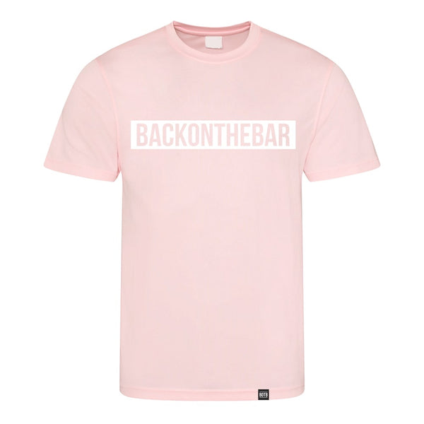 Back On The Bar Block Cool T-Shirt Baby Pink