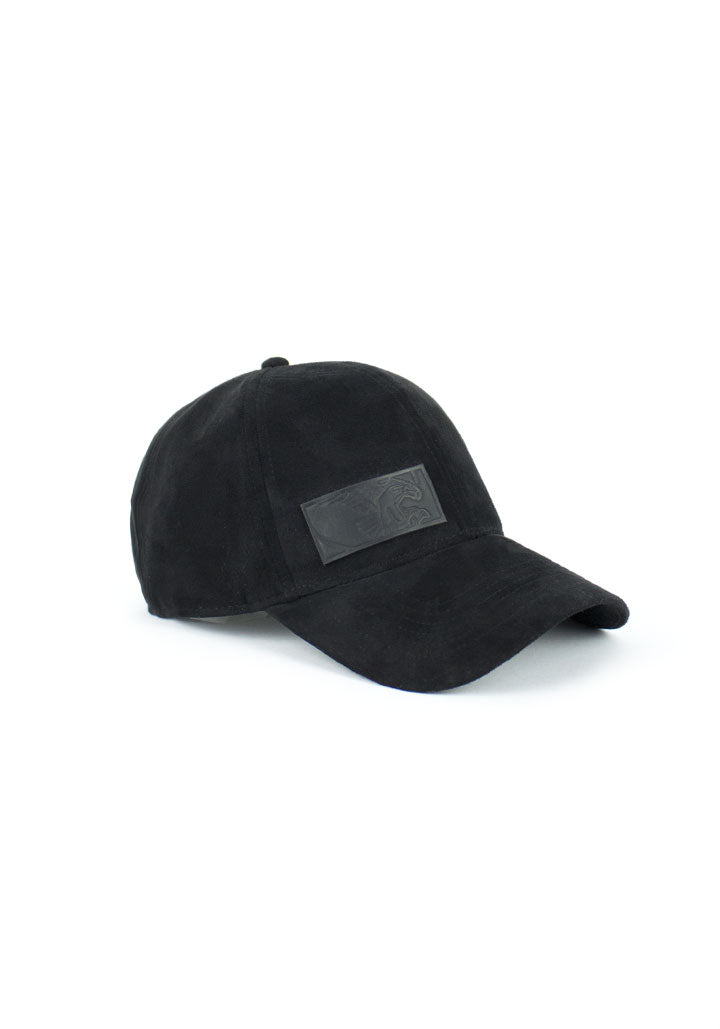 Tech Cap Black Suede