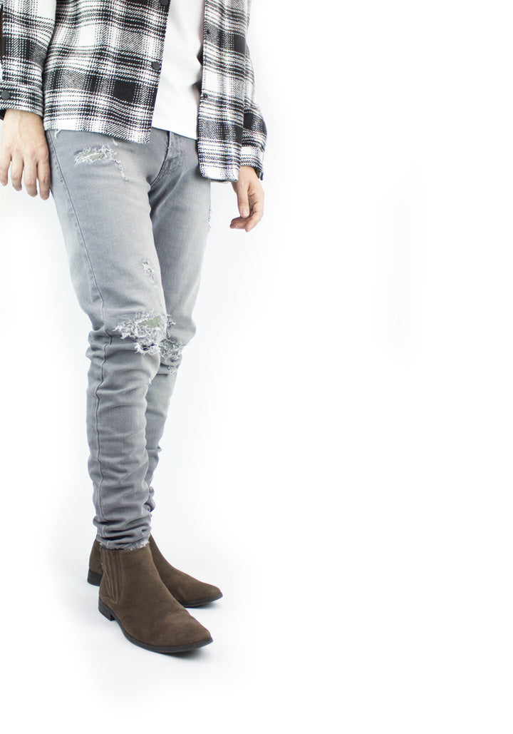 Repair Denim - Grey