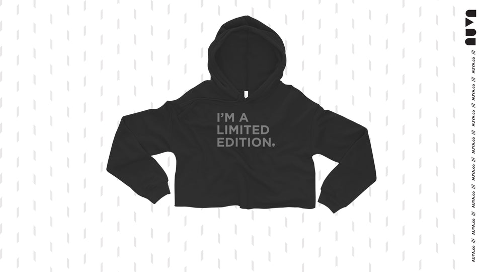 Black Auya I'm a Limited Edition crop hoodie
