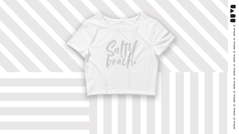 Salty Beach - Grey + White