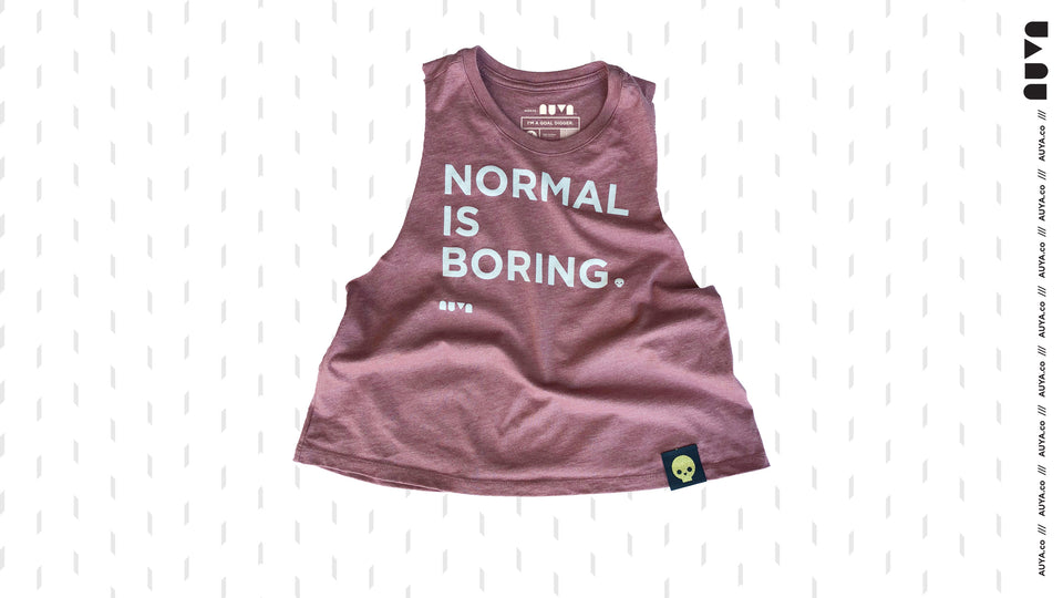 Salmon Normal Is Boring Crop Tank by Auya Co.