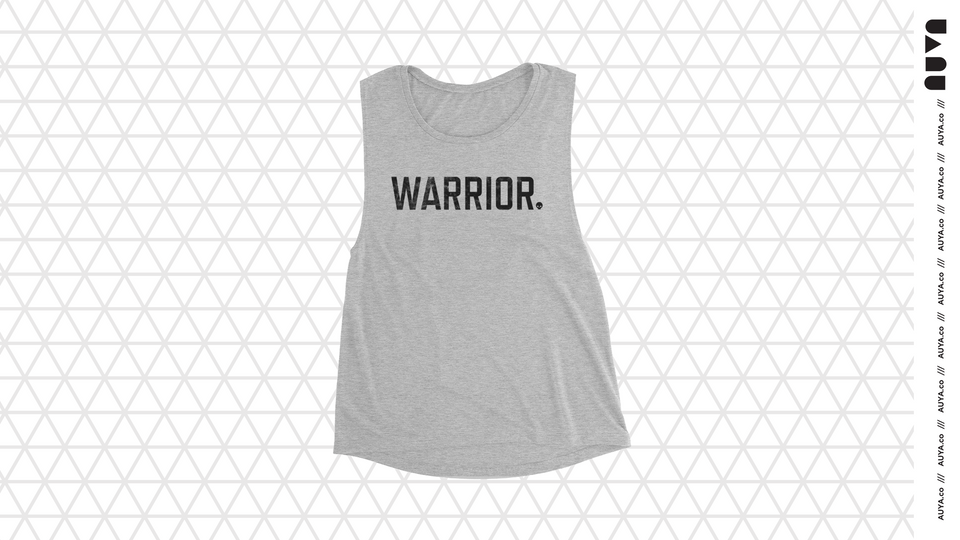 Light Heather Grey Warrior Muscle Tank by Auya Co.