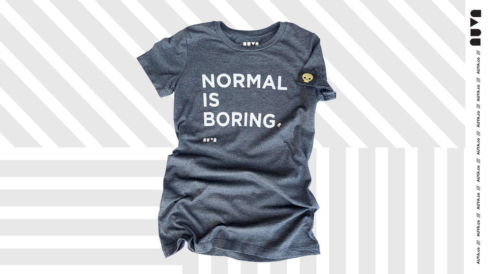 Heather Grey, Normal Is Boring youth T-shirt by Auya Co.