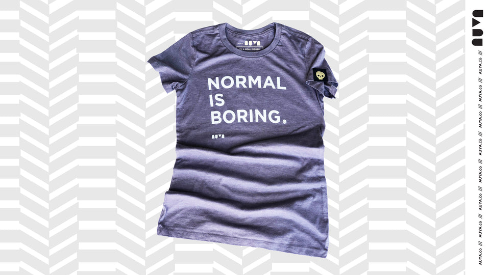 Heather Purple, Normal Is Boring youth T-shirt by Auya Co.