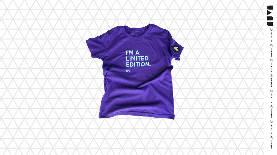 Royal blue, kids I'm a Limited Edition T-shirt by Auya Co.