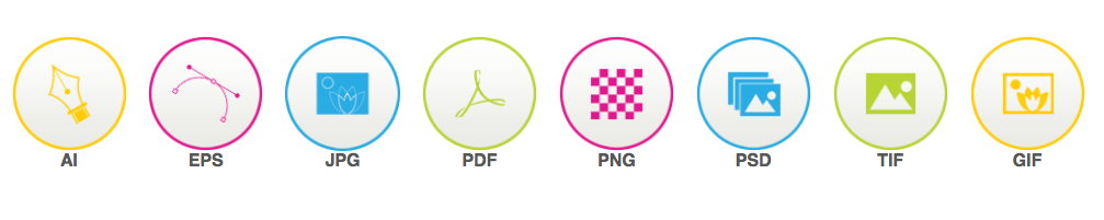 High resolution file formats delivered upon completion for all logo and graphic design customers