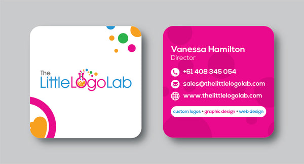 round corner square business cards