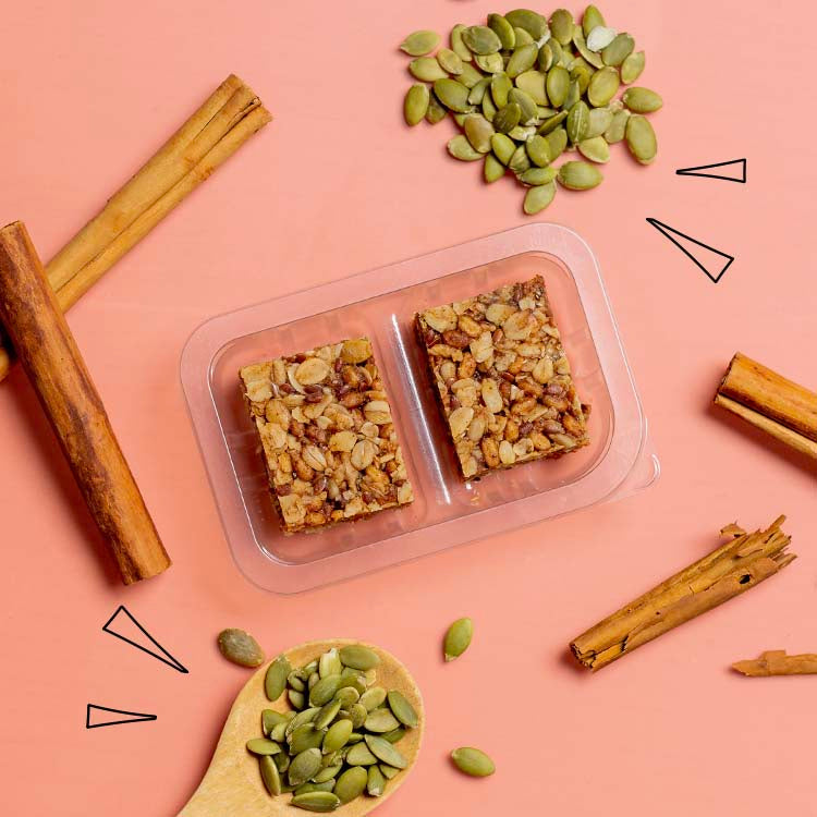 graze cinnamon oat squares with superfoods multipack