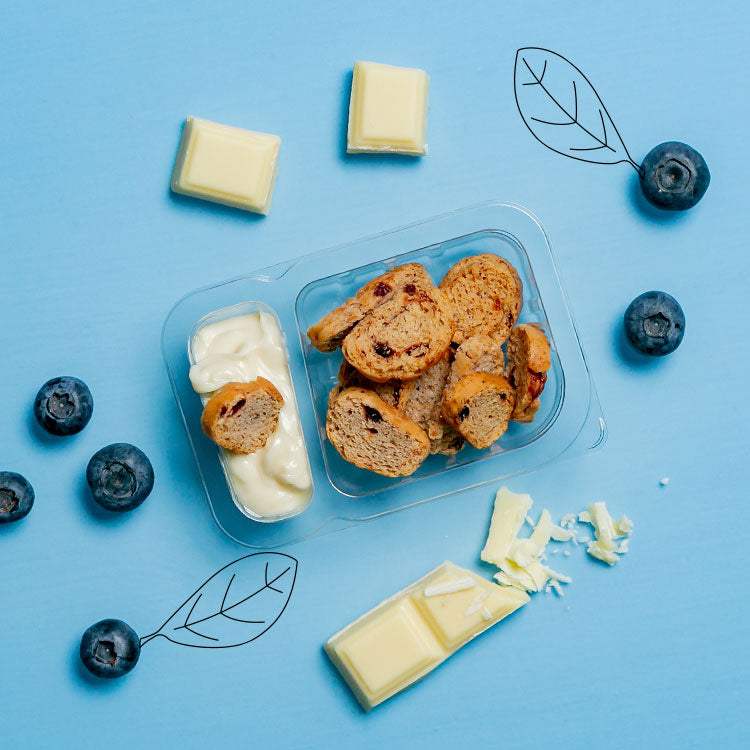 graze white chocolate dip with blueberry toasts multipack