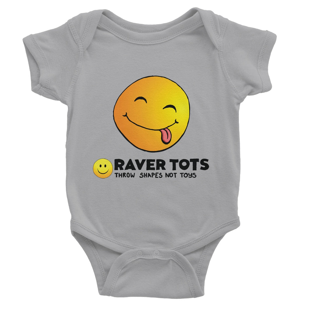 Smiley Face Tongue Baby Bodysuit