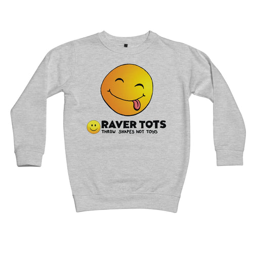 Smiley Face Tongue Kids Retail Sweatshirt