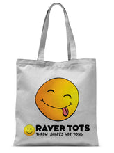 Load image into Gallery viewer, Smiley Face Tongue Tote Bag
