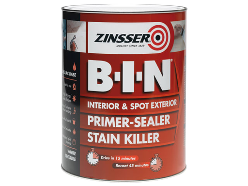 Zinsser BIN Primer & Sealer Stain Killer Paint (Shellac Based Primer)