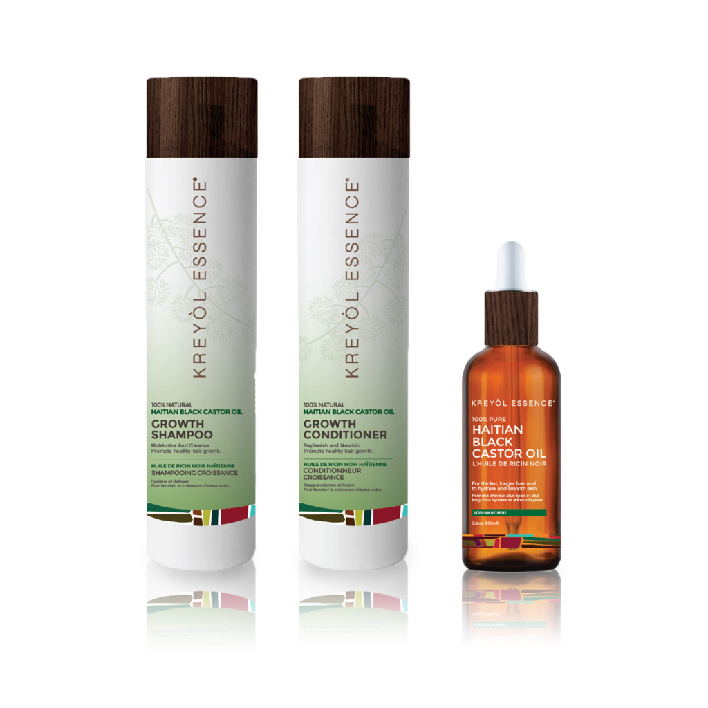 Hair Growth Set - Shampoo, Conditioner, Stimulating Hair Oil