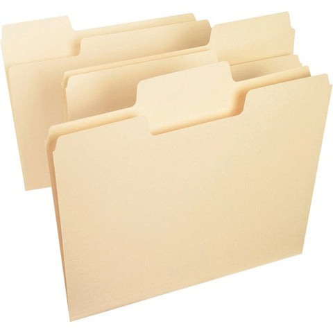 Smead Manufacturing Company SuperTab 1/3 Cut Manila Top Tab File Folders