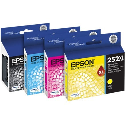 Epson Epson DURABrite Ultra 252XL Original Ink Cartridge Combo Pack - Black, Cyan, Magenta, Yellow
