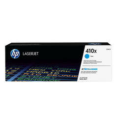 HP 410X (CF411X) Color LaserJet Pro M452 MFP M477 High Yield Cyan Original LaserJet Toner Cartridge (5000 Yield)