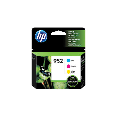 HP 952 (N9K27AN) Cyan/Magenta/Yellow Original Ink Cartridges 3-Pack (3 x 700 Yield)