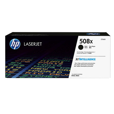 HP 508X (CF360X) Color LaserJet M552 M553 (Flow) MFP M577 High Yield Black Original LaserJet Toner Cartridge (12500 Yield)