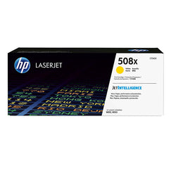 HP 508X (CF362X) Color LaserJet M552 M553 (Flow) MFP M577 High Yield Yellow Original LaserJet Toner Cartridge (9500 Yield)
