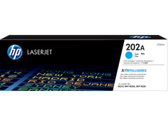 HP 202A (CF501A) Color LaserJet Pro M254 MFP M281 Cyan Original LaserJet Toner Cartridge (1300 Yield)