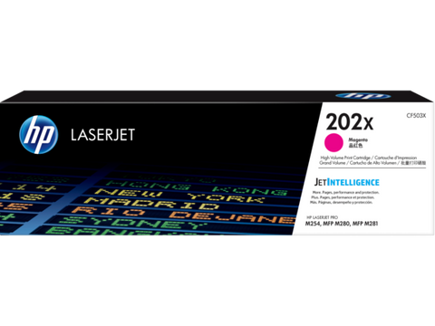 HP 202X (CF503X) Color LaserJet Pro M254 MFP M281 High Yield Magenta Original LaserJet Toner Cartridge (2500 Yield)