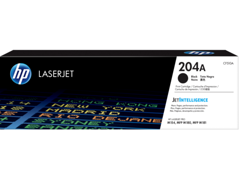 HP 204A (CF510A) Color LaserJet Pro MFP M180 Black Original LaserJet Toner Cartridge (1100 Yield)
