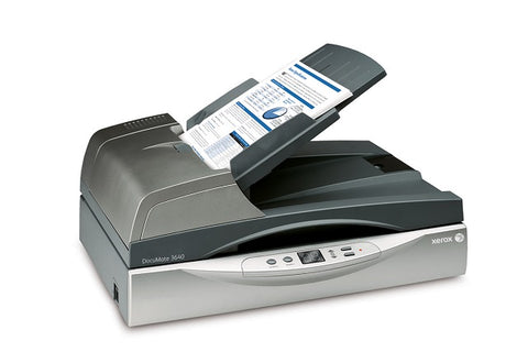 Xerox  DocuMate 3640 Legal sized Flatbed/ADF departmental  scanne