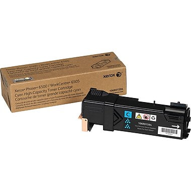 Xerox Phaser 6500 WorkCentre 6505 High Capacity Cyan Toner Cartridge (2500 Yield)