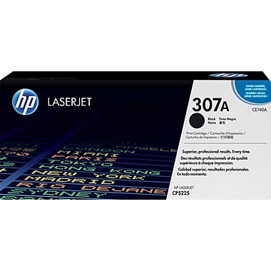 HP 307A (CE740A) Color LaserJet CP5225 Black Original LaserJet Toner Cartridge (7000 Yield)