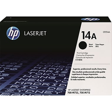 HP 14A (CF214A) LaserJet Enterprise 700 M712 MFP M725 Black Original LaserJet Toner Cartridge (10000 Yield)