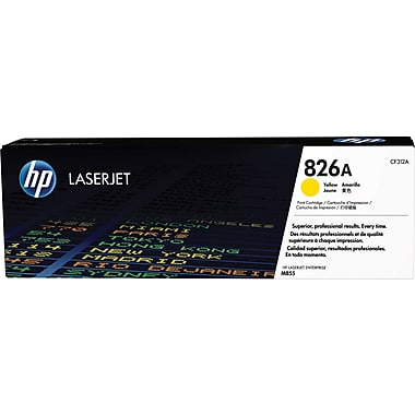 HP 826A (CF312A) Color LaserJet Enterprise M855 Yellow Original LaserJet Toner Cartridge (31500 Yield)