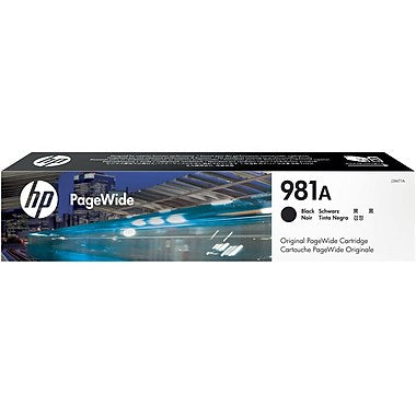 HP 981A (J3M71A) PageWide Enterprise Color 556 586 Managed Color E55650 E58650 Black Original PageWide Cartridge (6000 Yield)