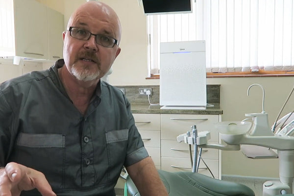 Watch the Winix Zero Pro air purifier on test in the dental surgery