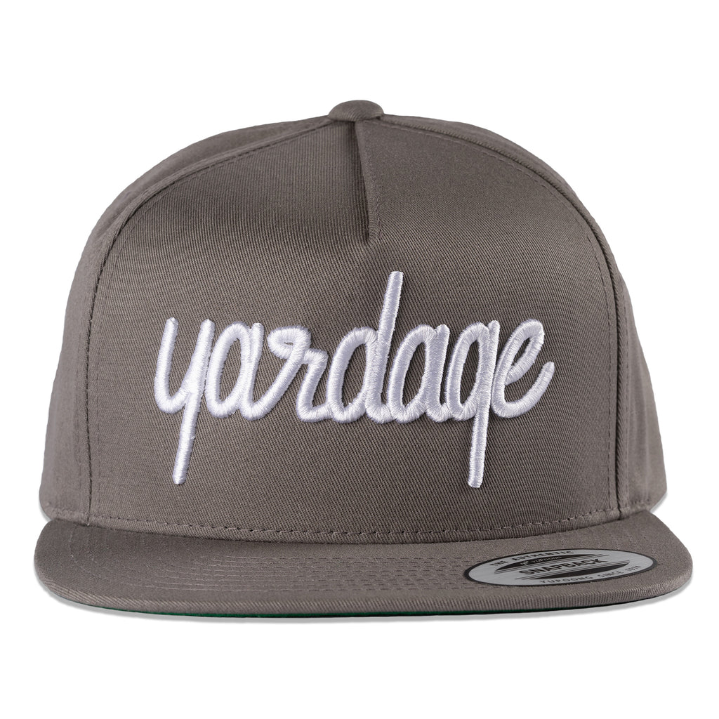 Snapback Golf Hat, Grey With Grey Snapback