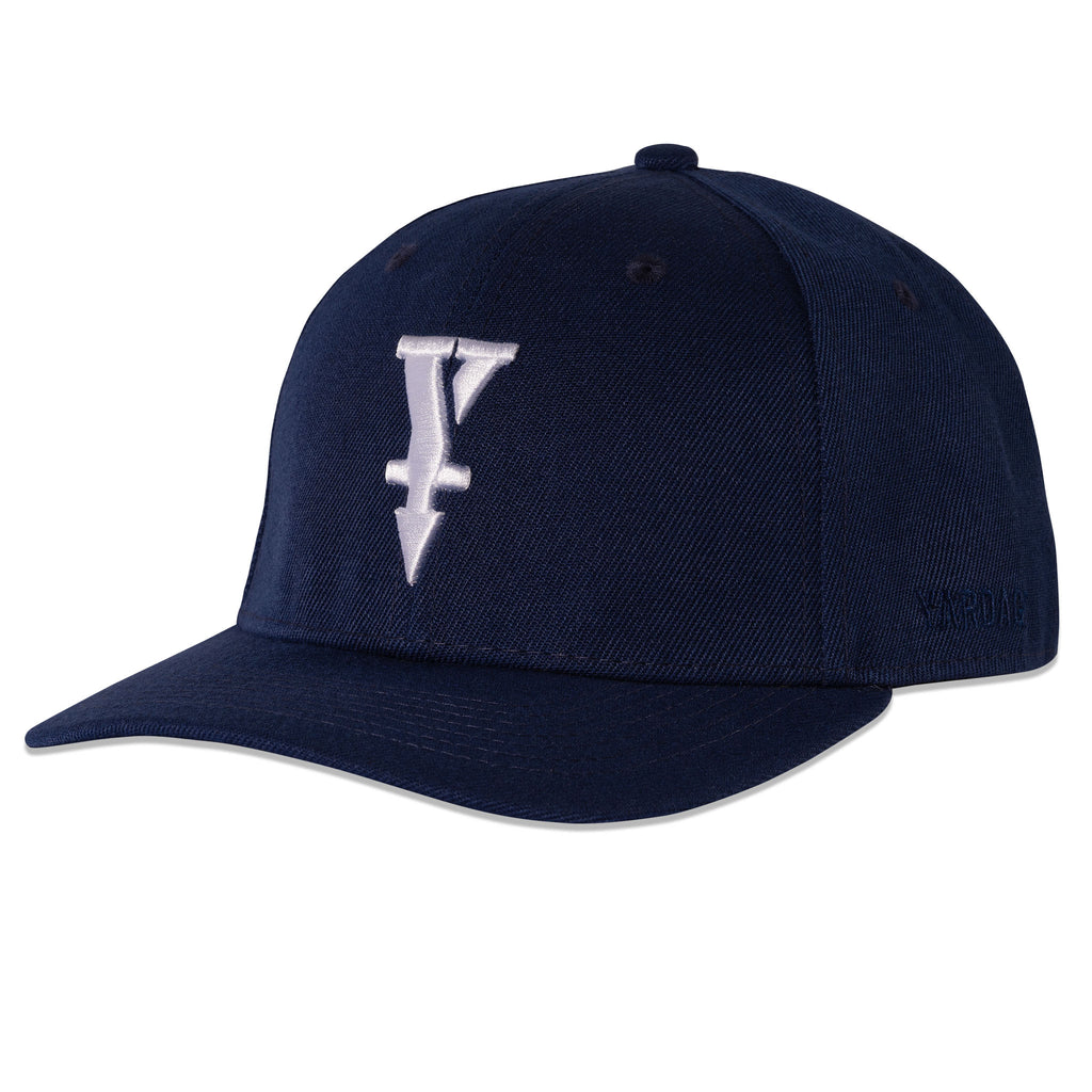 Snapback Golf Hat, Navy Blue With White Snapback