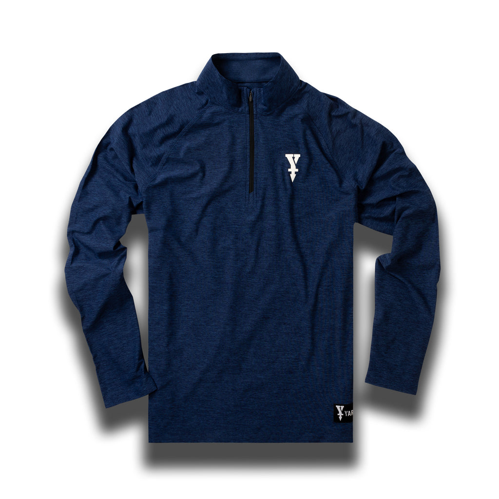 Golf Mid-Layer, Midnight Blue With Heather Effect