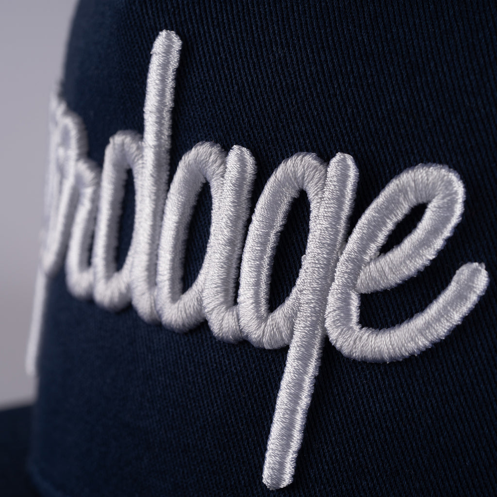 Snapback Golf Hat, Navy Blue With Blue Snapback
