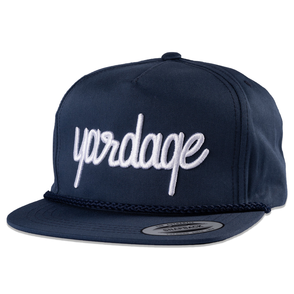 Snapback Golf Hat with Rope, Navy Blue