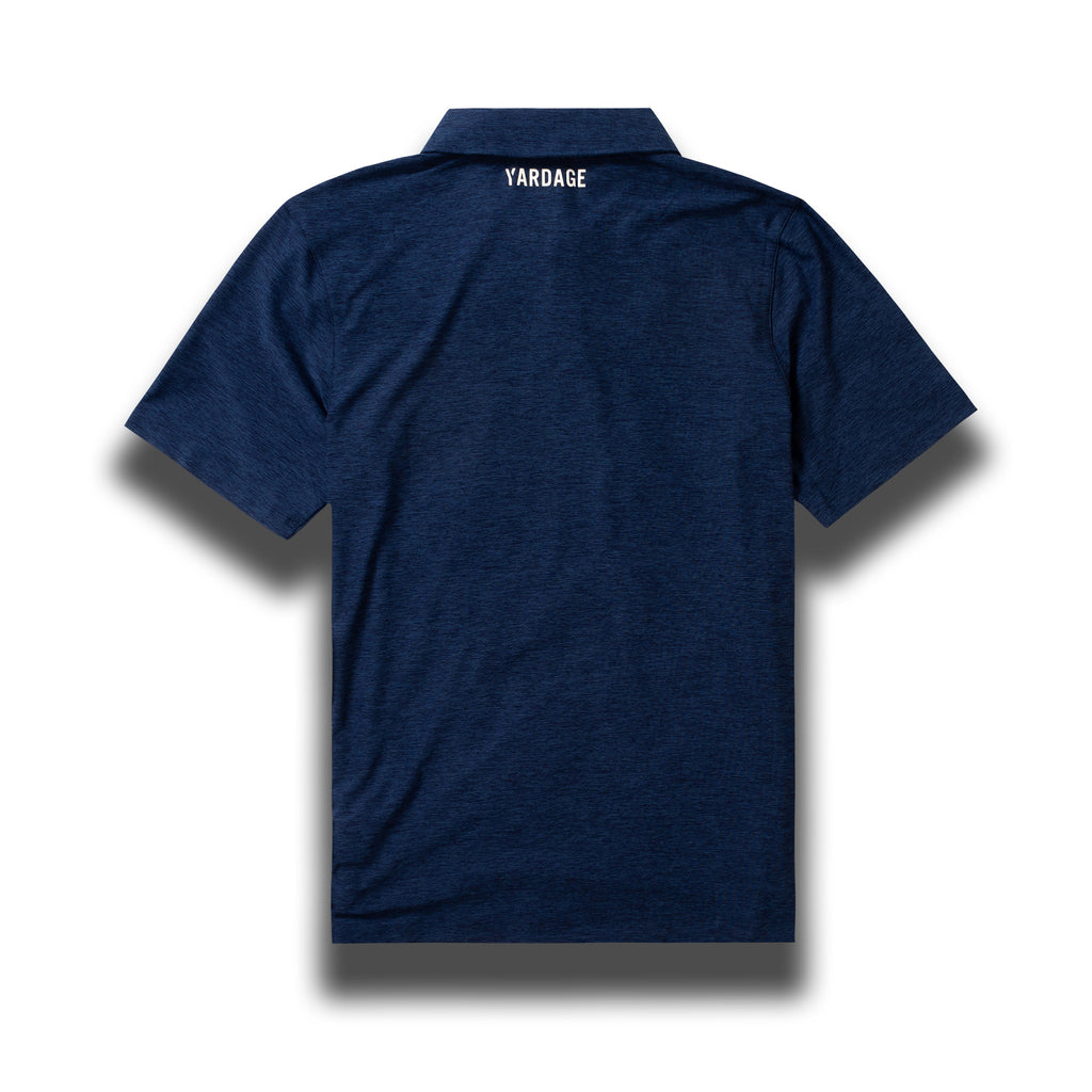 Golf Polo Shirt, Midnight Blue With Heather Effect