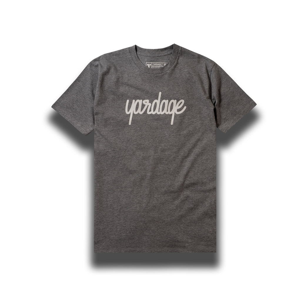 Grey Yardage Script Cotton T-Shirt