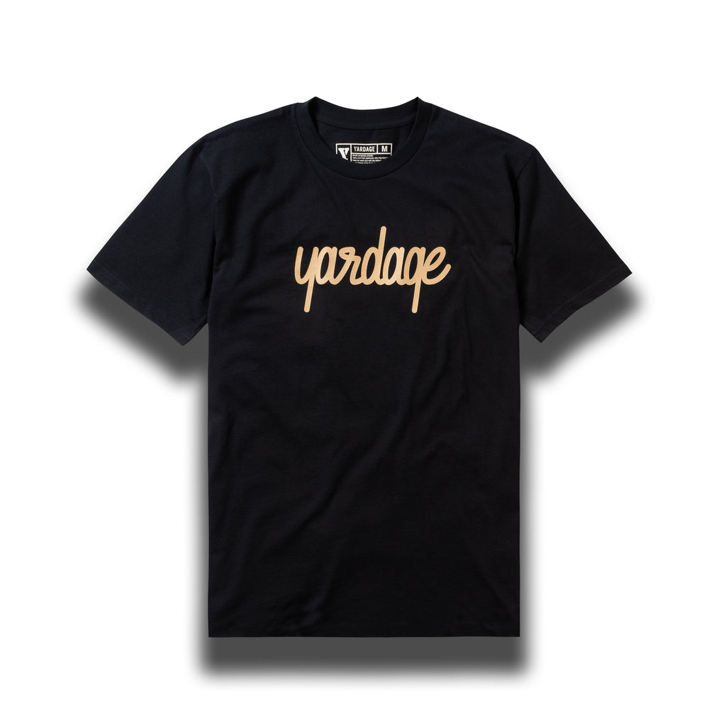 Navy Yardage Script Cotton T-Shirt