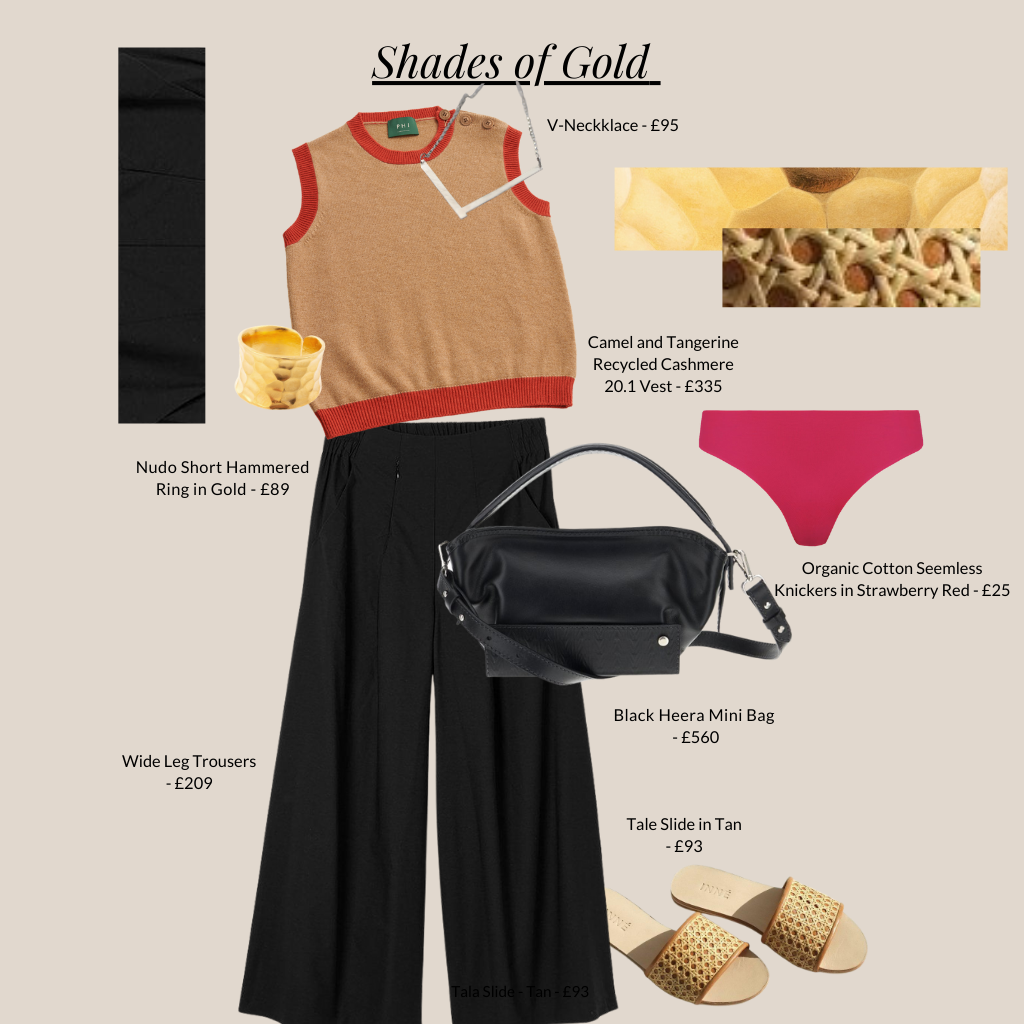 Shade of gold outfit