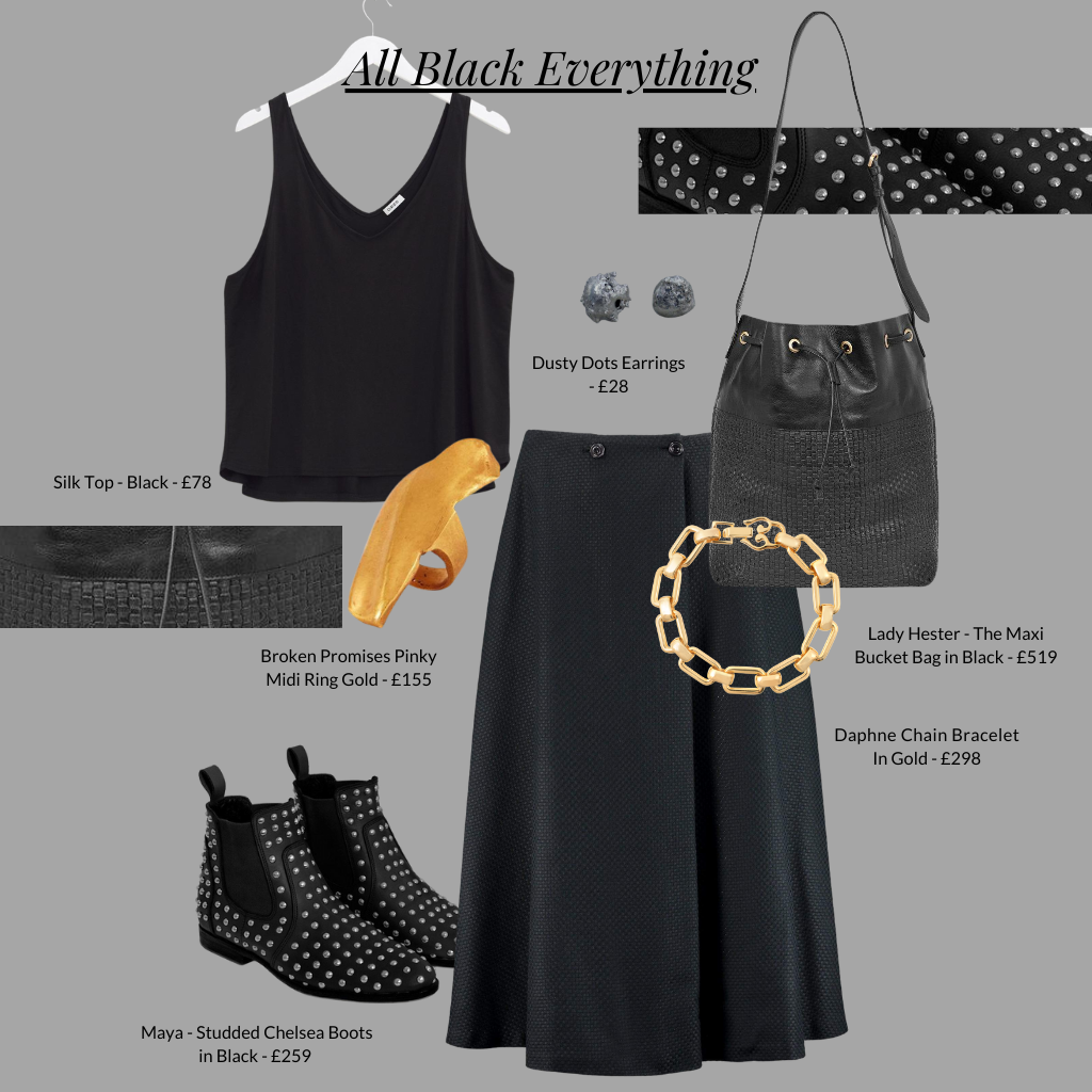 All black everything outfit