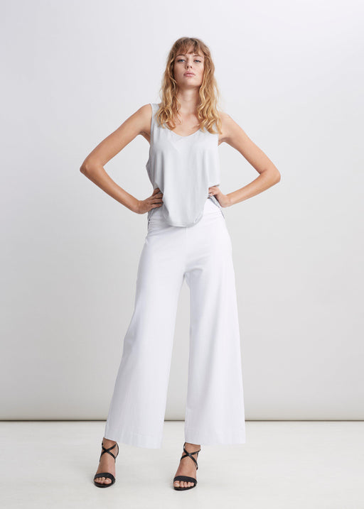 White Wool / Silk Pants