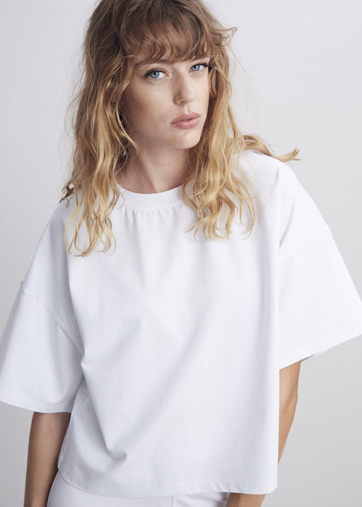 White Wool / Silk Top