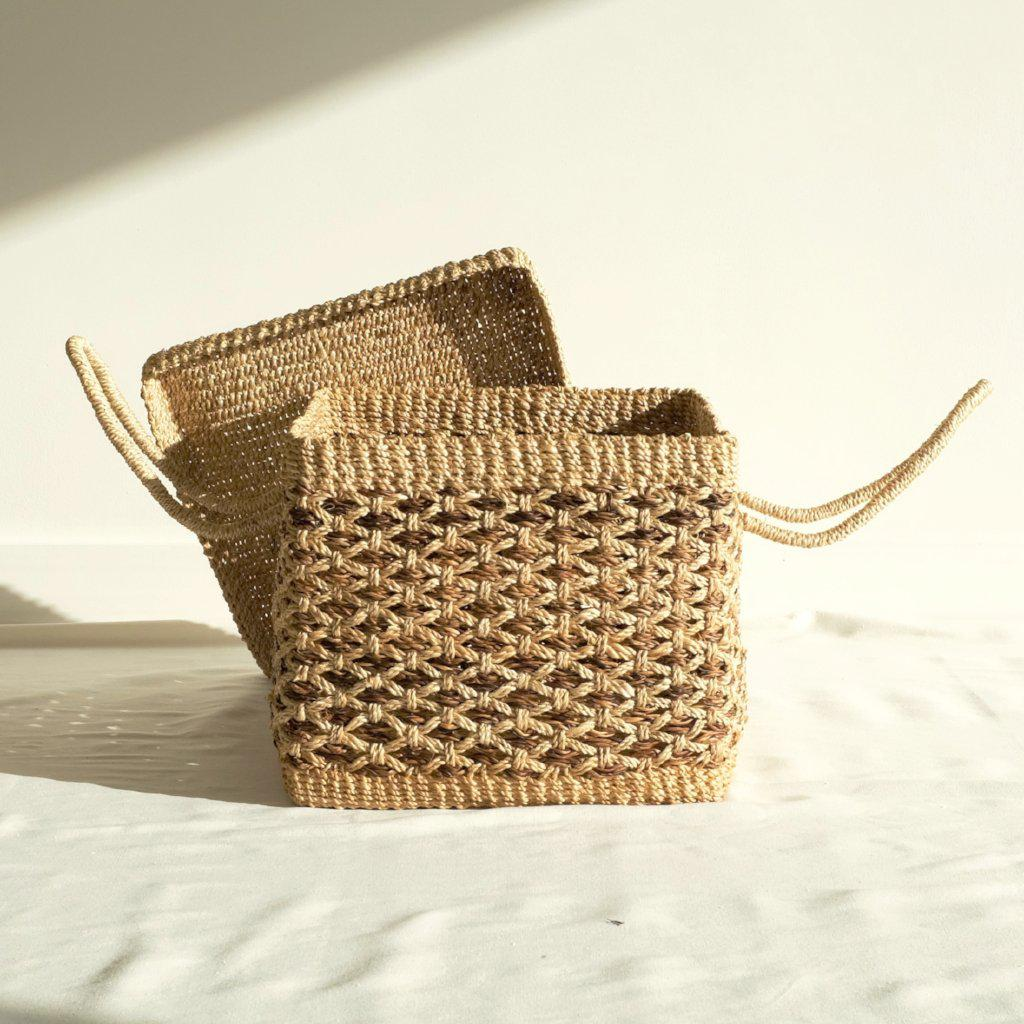 Sienna Picnic Basket - Natural - aequem sustainable fashion - organic - recycled - upcycled