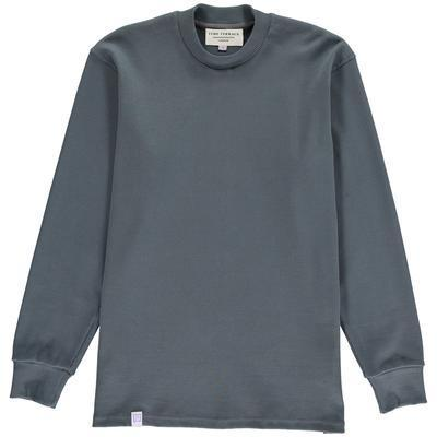 Aequem.com Shop Men's Ethical Fashion & Men's Sustainable Fashion Ash Organic Rib Mock Neck-Sweatshirts-Lyme Terrace (UK)