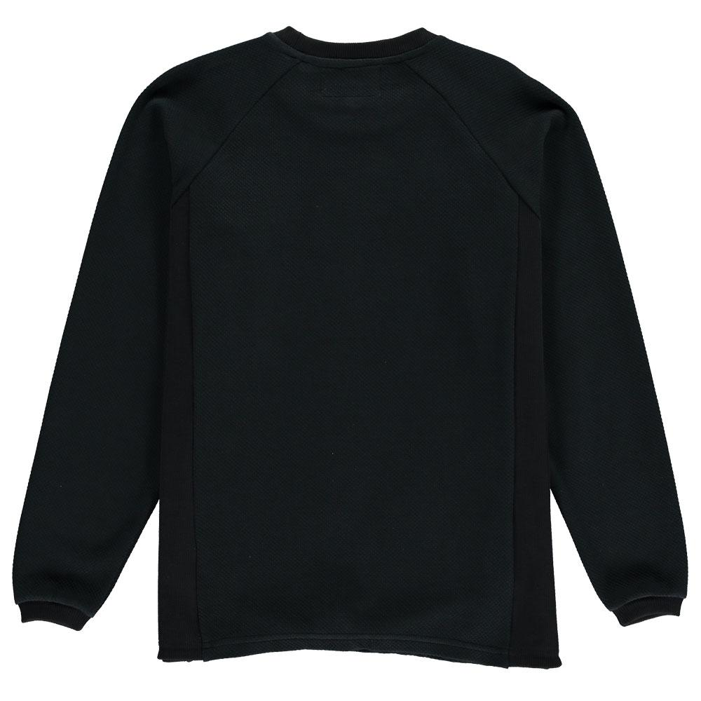 Aequem.com Shop Men's Ethical Fashion & Men's Sustainable Fashion Black Organic Cotton Texture Sweatshirt-Sweatshirts-Lyme Terrace (UK)
